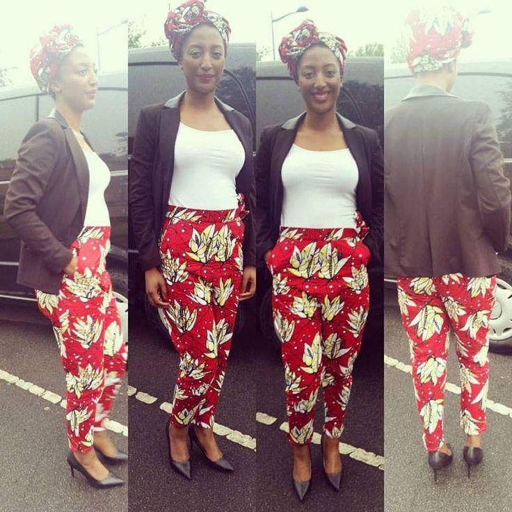 pantalon ethnique en pagne africain