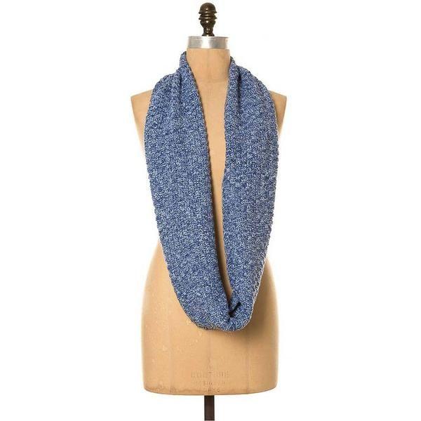 *NEW* Lee Garrett Scarf - Basketweave Knitted Loop Scarf - Denim Blue - Seasons Emporium - 2
