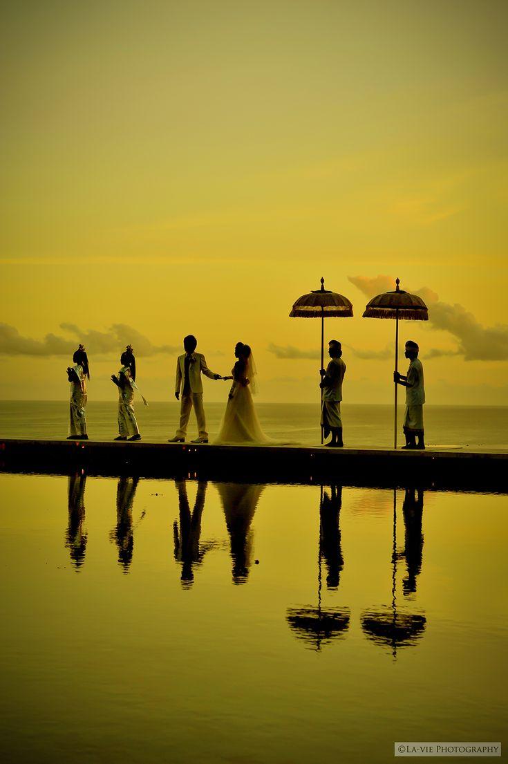 美しい夕焼けをバックにサンセットフォト♡バリでの結婚式一覧♡ウェディング・ブライダルの参考に♡