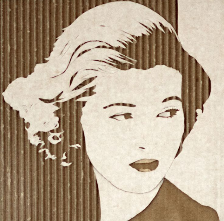 Cardboard Relief Portrait – Anne Taylor