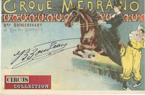 Circus collection: Cirque Medrano 1900