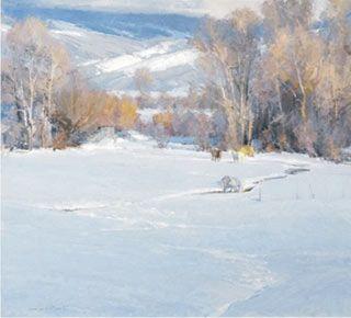 Skip Whitcomb, Winter Pasture, Oil