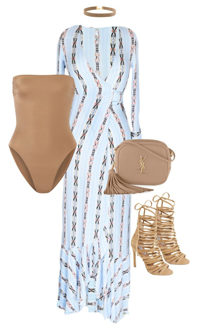 """WRAP DRESS"" by alexannaloro on Polyvore featuring Norma Kamali, Steve Madden, Yves Saint Laurent and ALYANNACLOTHING"