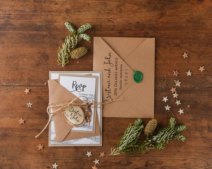 Rustic Chic Wedding Invitation