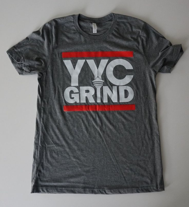 YYC GRIND LIGHT HEATHER Grey T-Shirt