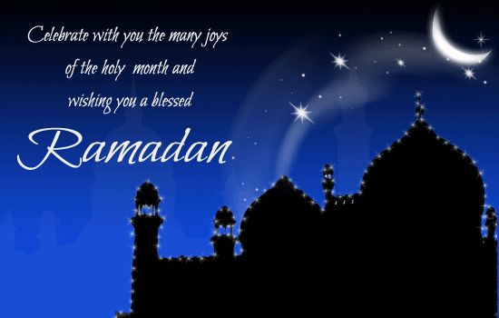 Ramadan wishes greeting e-card