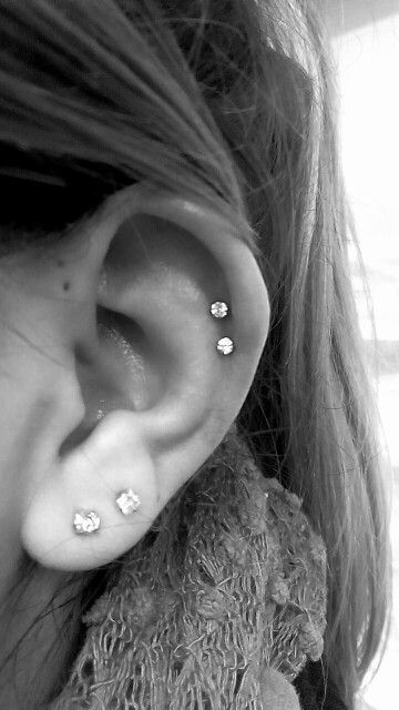 Got double helix piercings at River City Tattoo in Old Sacramento. Definitely recommend  #doublehelix #helix #piercings