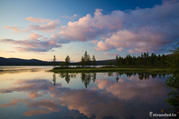 Luirojärvi sunset, Urho Kekkonen National Park, Lapland, Finland