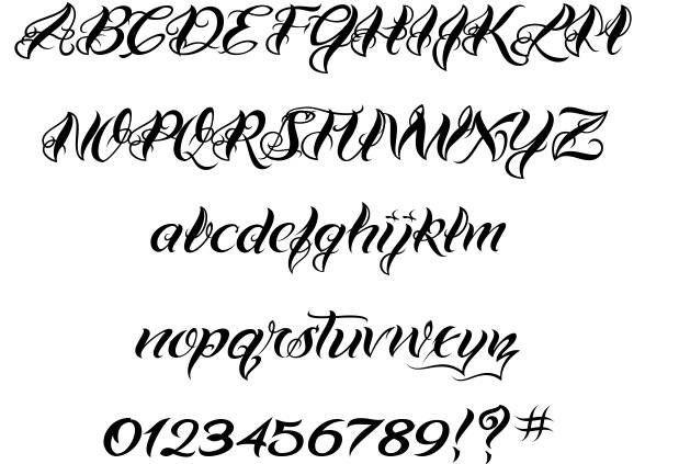 Best 25 number tattoo fonts ideas on pinterest tattoo for Cursive script tattoo fonts