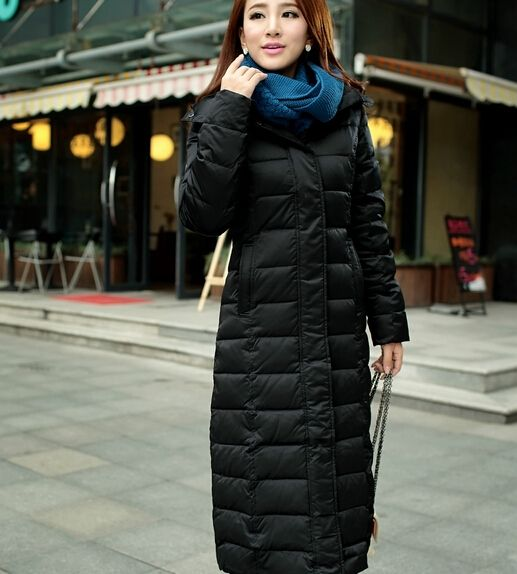 (111.24$)  Buy here  - Women Clothing Long Down Jacket Women Slim Genuine Long Thick Warm Winter Coat Plus Size Ladies Winter Jacket Coat Parkas DM639