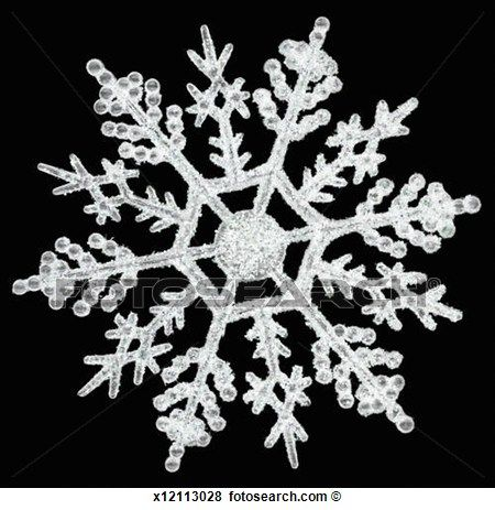Black And White Snowflake Pattern