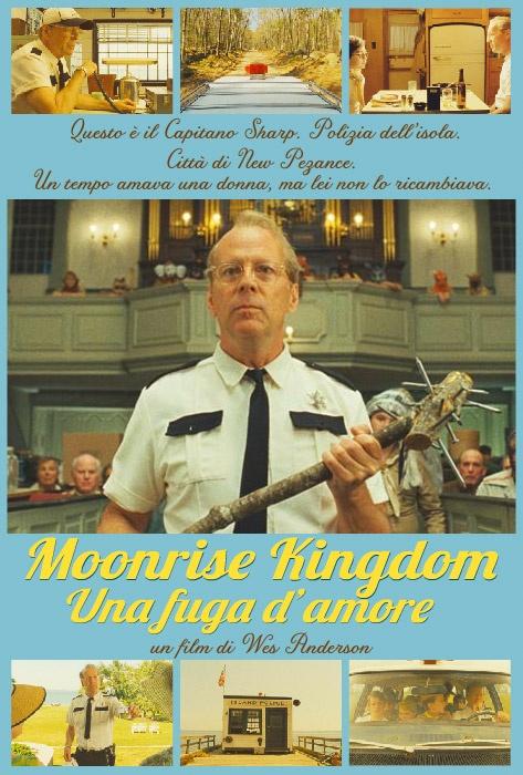 Il mitico Bruce Willis è il Capitano Sharp in Moonrise Kingdom!