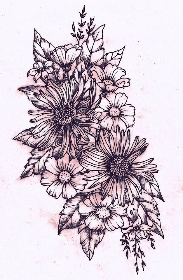 How i want my half sleeve to look but with different flowers and more realistic. Also with a lot of color!
