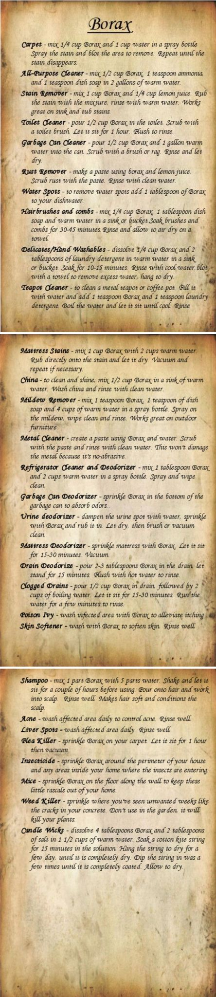 '30 Uses for Borax - WWII Series...!' (via Fluster Buster)