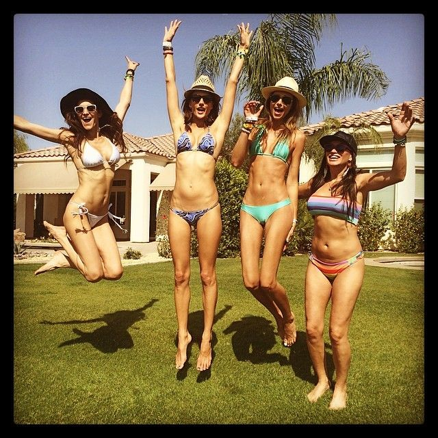 Pin for Later: Let Alessandra Ambrosio's Coachella Style Inspire Your Festival Looks This Year A Triangle Bikini