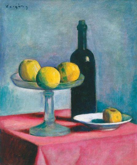Czigány Dezső (1883-1938) Csendélet, 1925 Olaj, vászon, 57x48 cm