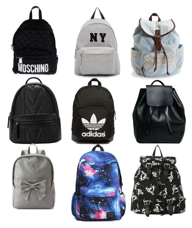 Cute backpacks by blueraccoon72 on Polyvore featuring polyvore, fashion, style, Joshua's, Aéropostale, Candie's, adidas Originals, Moschino, women's clothing, women's fashion, women, female, woman, misses and juniors