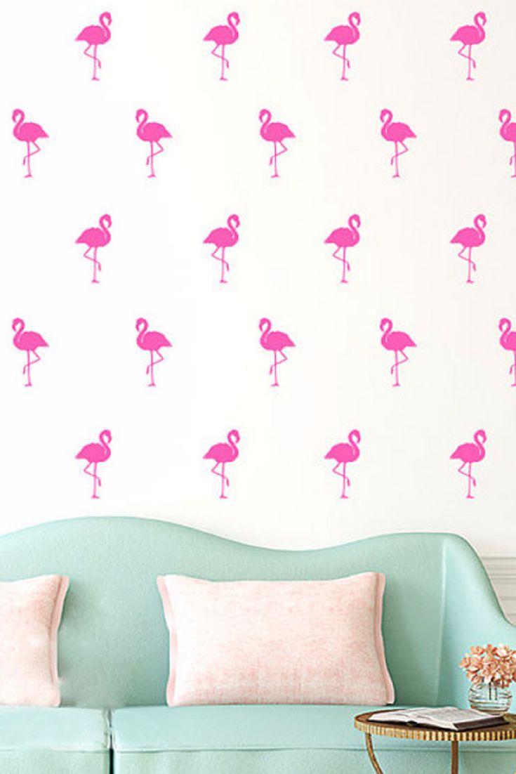 Fun Flamingo wall decals.