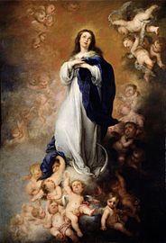 Inmaculada Concepción (1678), de Bartolomé Esteban Murillo, Museo del Prado, Madrid.