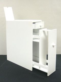 Bathroom Floor Cabinet - incredibly slim for small spaces (could also go between washer and dryer)