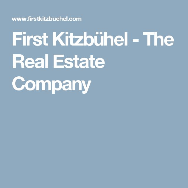 First Kitzbühel - The Real Estate Company