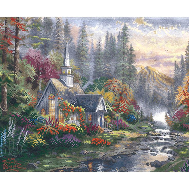 CANDAMAR DESIGNS-Counted Cross Stitch: Thomas Kinkade. Candamar brings you special kits inspired by one of the best known artists of our time: Thomas Kinkade. Known as The Master Of Light it's no wonder his work is so popular.