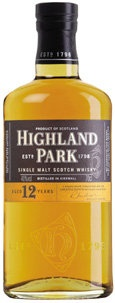 Highland Park 12 Year Scotch - Smooth and light with subtle smokiness.