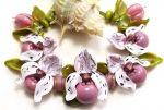 Orchidee Frauenschuh Pink/gold