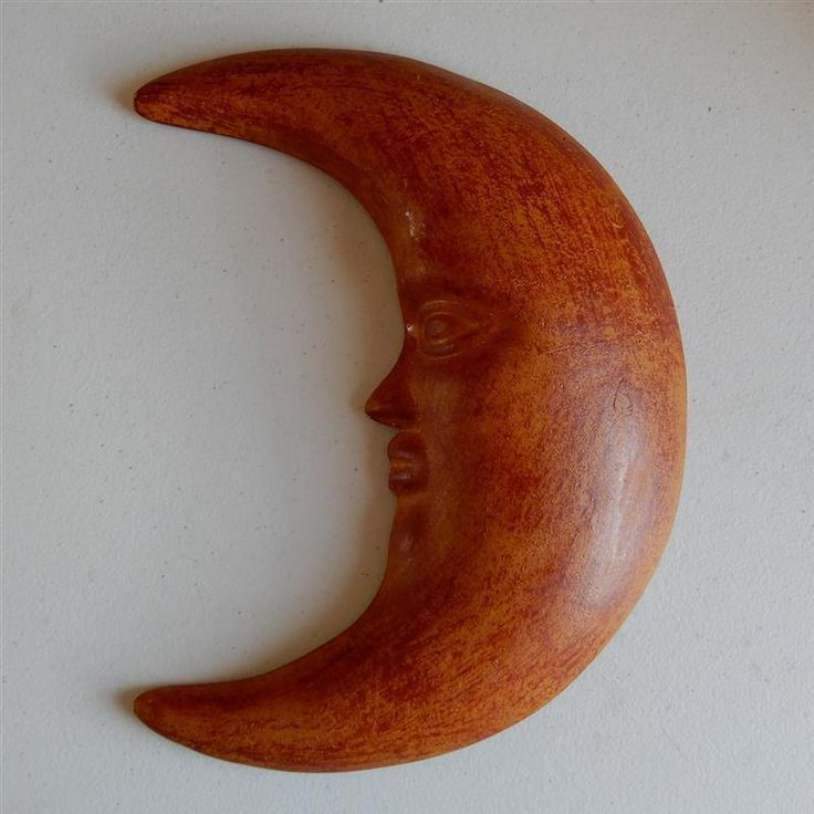 "12"" Large Moon Face Terra Cotta ""Cara de La Luna"" Wall Hanging Tonala Art #Tonala #loscocosstore"