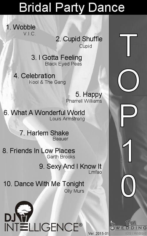 Top 10 Bridal Party Dance Songs.  dropthemicentertainment.com