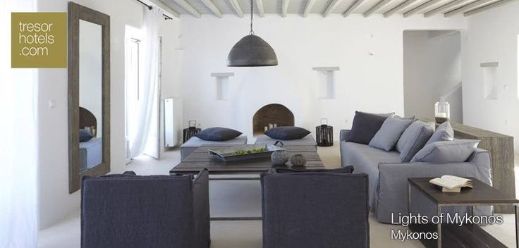 Have you ever dreamed of relaxing in such a luxurious living room? Find out more about our Lights of #Mykonos..