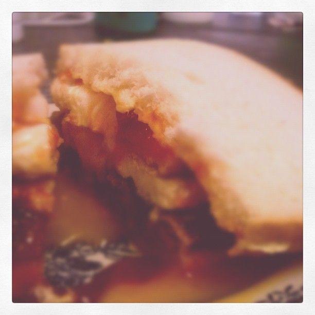 Sandwich meltdown.
