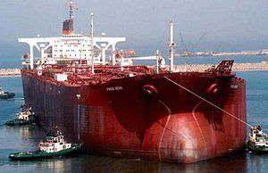 Seawise Giant, later Happy Giant, Jahre Viking and Knock Nevis, was a ULCC supertanker and the longest ship ever built. She possessed the greatest deadweight tonnage ever recorded. Fully laden, her displacement was 657,019 tonnes (646,642 long tons; 724,239 short tons),