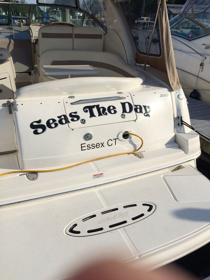 Seas The Day Boat Names Boat Names Pontoon Boat