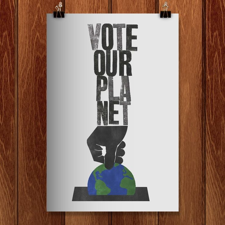 A Vote For The Future by Roland Tiffany for Vote Our Planet by Creative Action Network - 1
