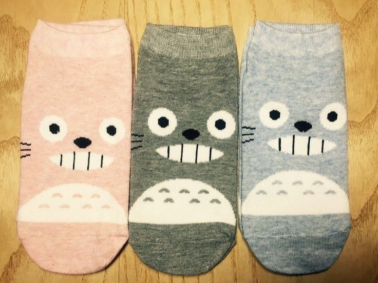 KIDS Age 5-7 Unisex My Neighbor TOTORO Cute Character Cotton Kids Socks_3 Colors #MIRINE #Casual