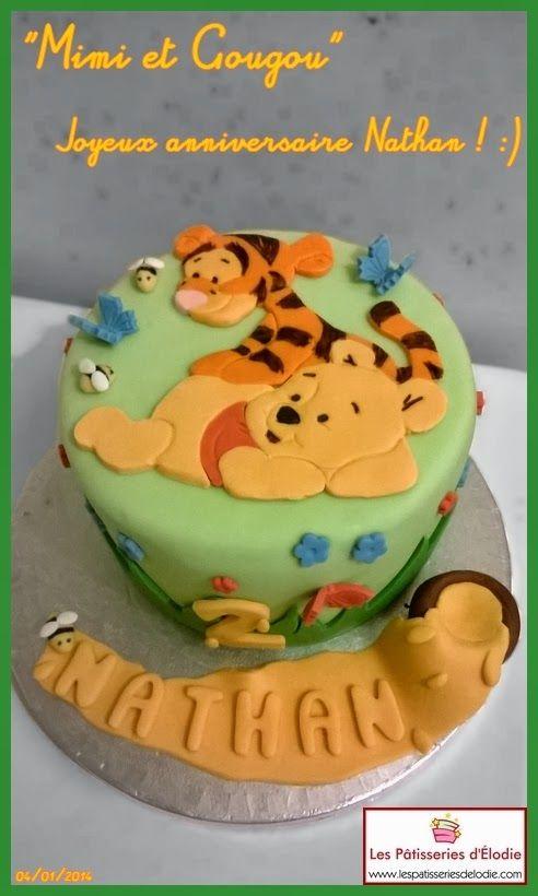 Les Pâtisseries d'Élodie: Gâteau 3D : Winnie l'ourson et Tigrou bébés