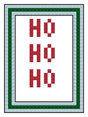 Free cross stitch advent calendar pattern, HO HO HO