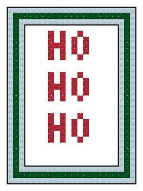 Free cross stitch advent calendar pattern, HO HO HO