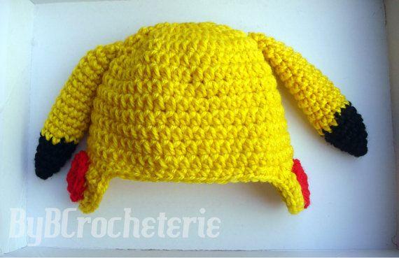 Baby Crochet Pikachu Beanie by ByBCrocheterie on Etsy, $14.00