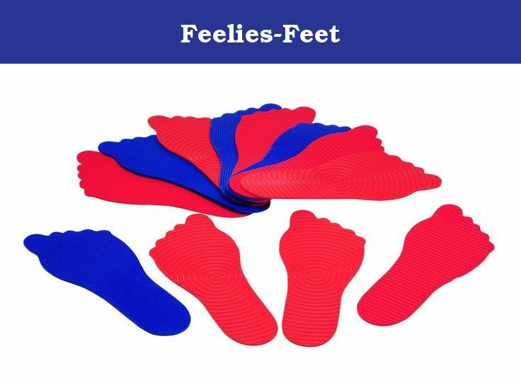 Feelies-Feet. Keep these fun-shaped textured feelies at your feet to delight the tactile sense and build focus! Use them at home or in school to improve concentration and attention spans in the classroom. Scatter them on floors, in playrooms, under desks or chairs. Ideal for teaching colors too. Assorted textures and colors.