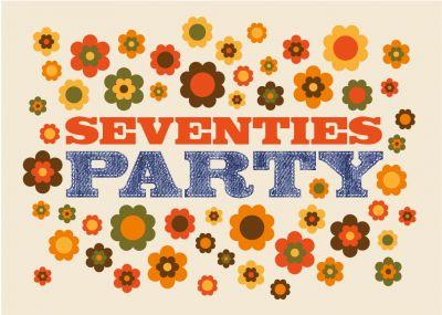 Coole und witzige Einladungskarte in echtem 70er-Look für alle Geburtstagskinder aus den Siebzigern oder für eine Seventies Party! #EinladungGeburtstag.de