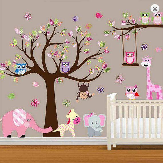 GROßE Baby Nursery Wald Wall Decal Baby von RockyMountainDecals