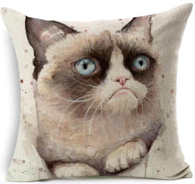 Grumpy Cat Pillow Cover | Cat