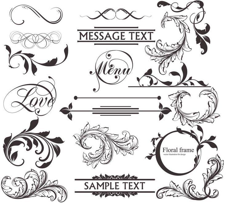 Vintage decor elements vector
