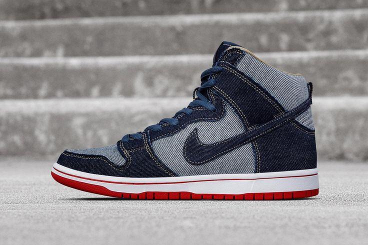 Nike-Dunk-High-Pro-SB-Reese-Denim-@witnessdaking.jpg (900×633)   Nike    Pinterest   Nike dunks, Trainers and Dope fashion