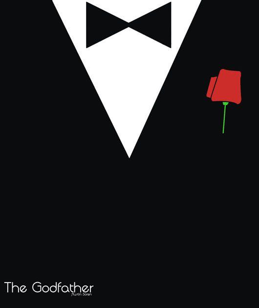 O Poderoso Chefão cartaz minimalista