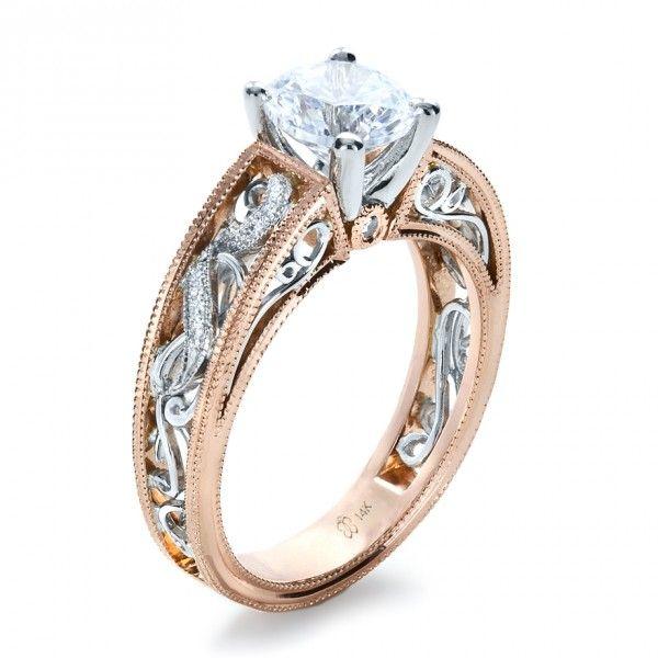 rose gold diamond engagement ring joseph jewelry seattle
