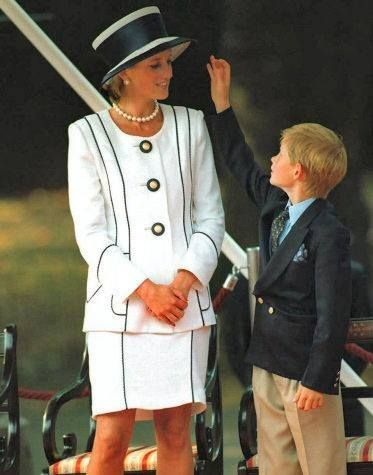 August 19, 1995: Princess Diana, Prince Harry, Prince William & Prince Charles attend the commemoration of VJ Day in London.                                                                                                                                                                                 Plus