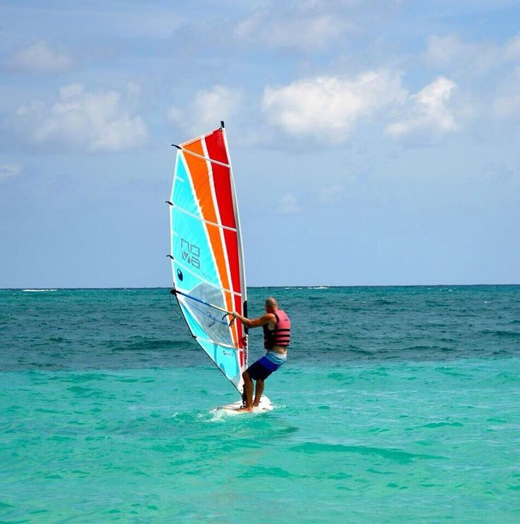 Wind Surfing in the Caribbean last year with the Fam. #WorkPlayCare #WorkSmart #PlayHard #CareMore #Adventure #Family